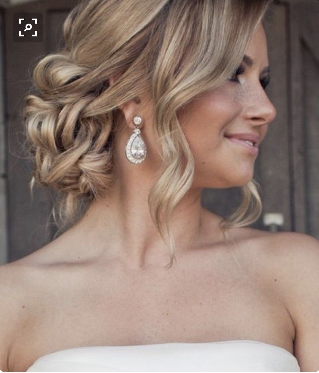 Featured Photo of Curled Side Updo Hairstyles With Hair Jewelry