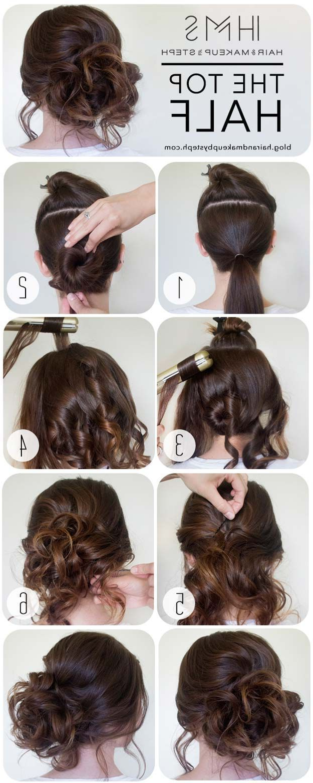 Pinterest Inside 2018 Cute Formal Half Updo Hairstyles For Thick Medium Hair (View 4 of 20)