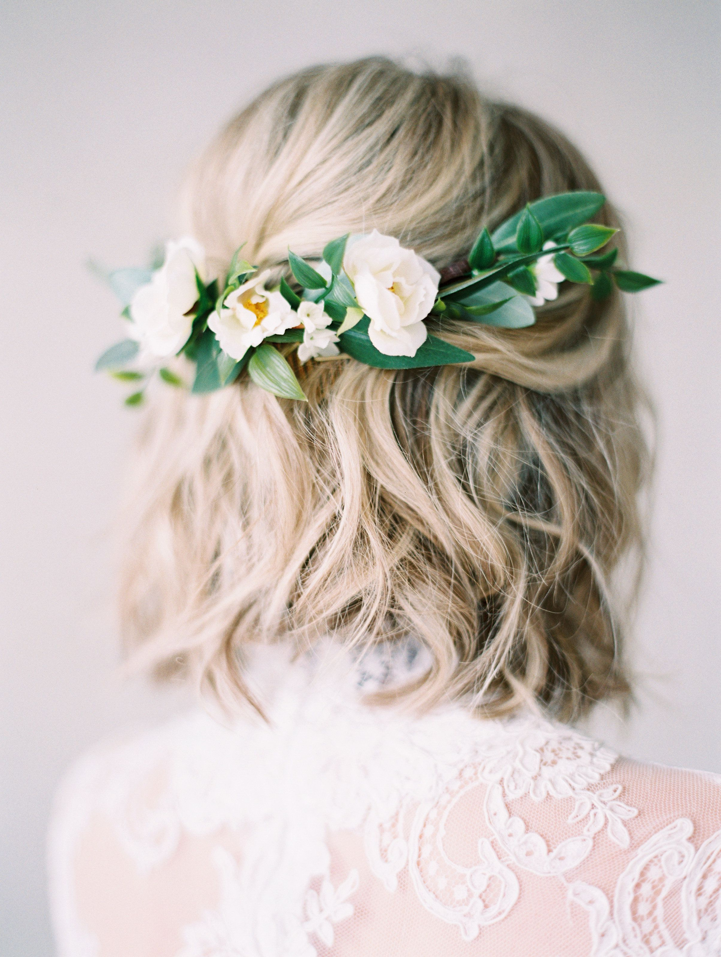 Pinterest Inside Well Liked Bohemian Curls Bridal Hairstyles With Floral Clip (View 15 of 20)