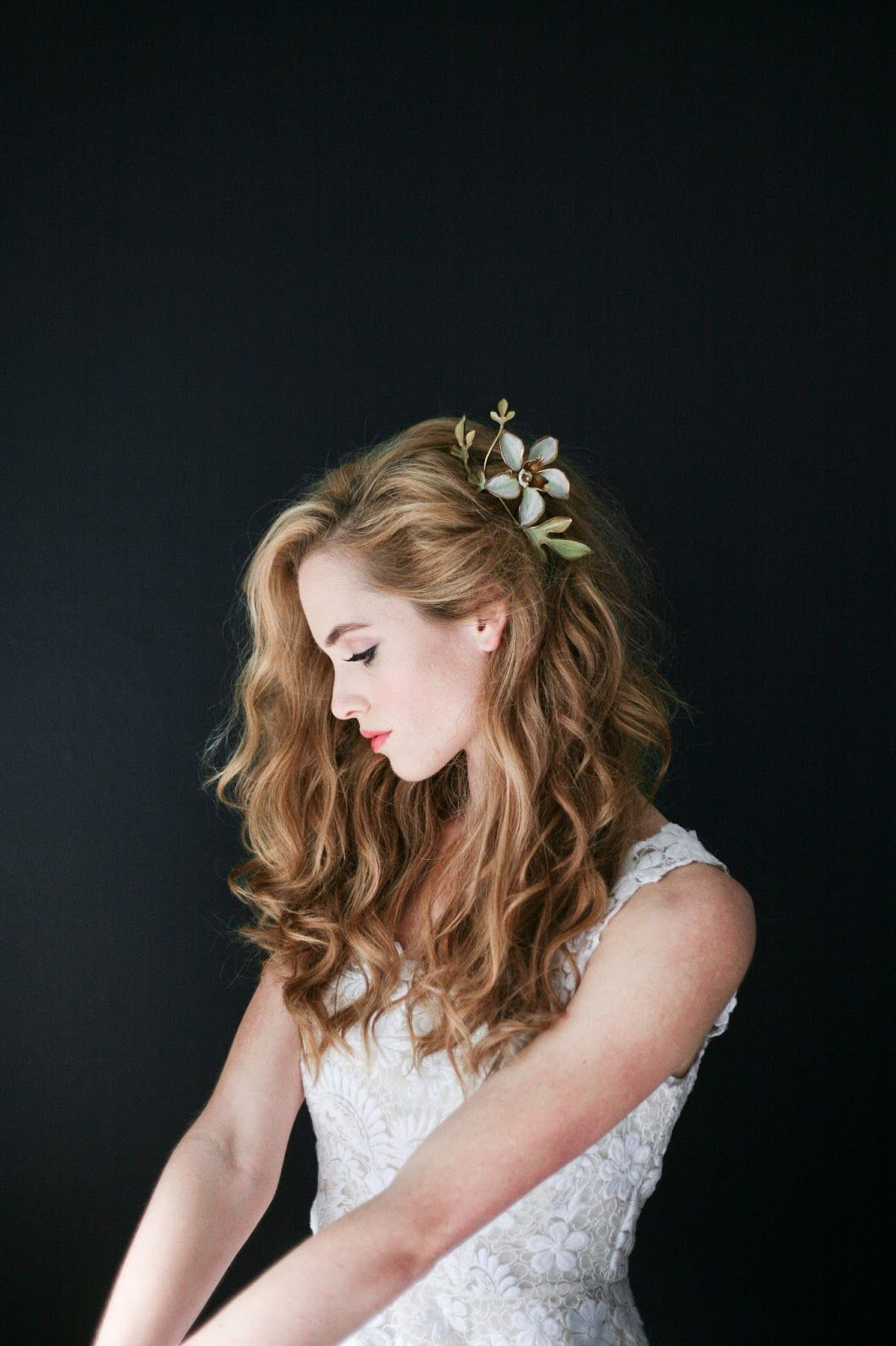 Pinterest Pertaining To Latest Pinned Back Tousled Waves Bridal Hairstyles (View 5 of 20)