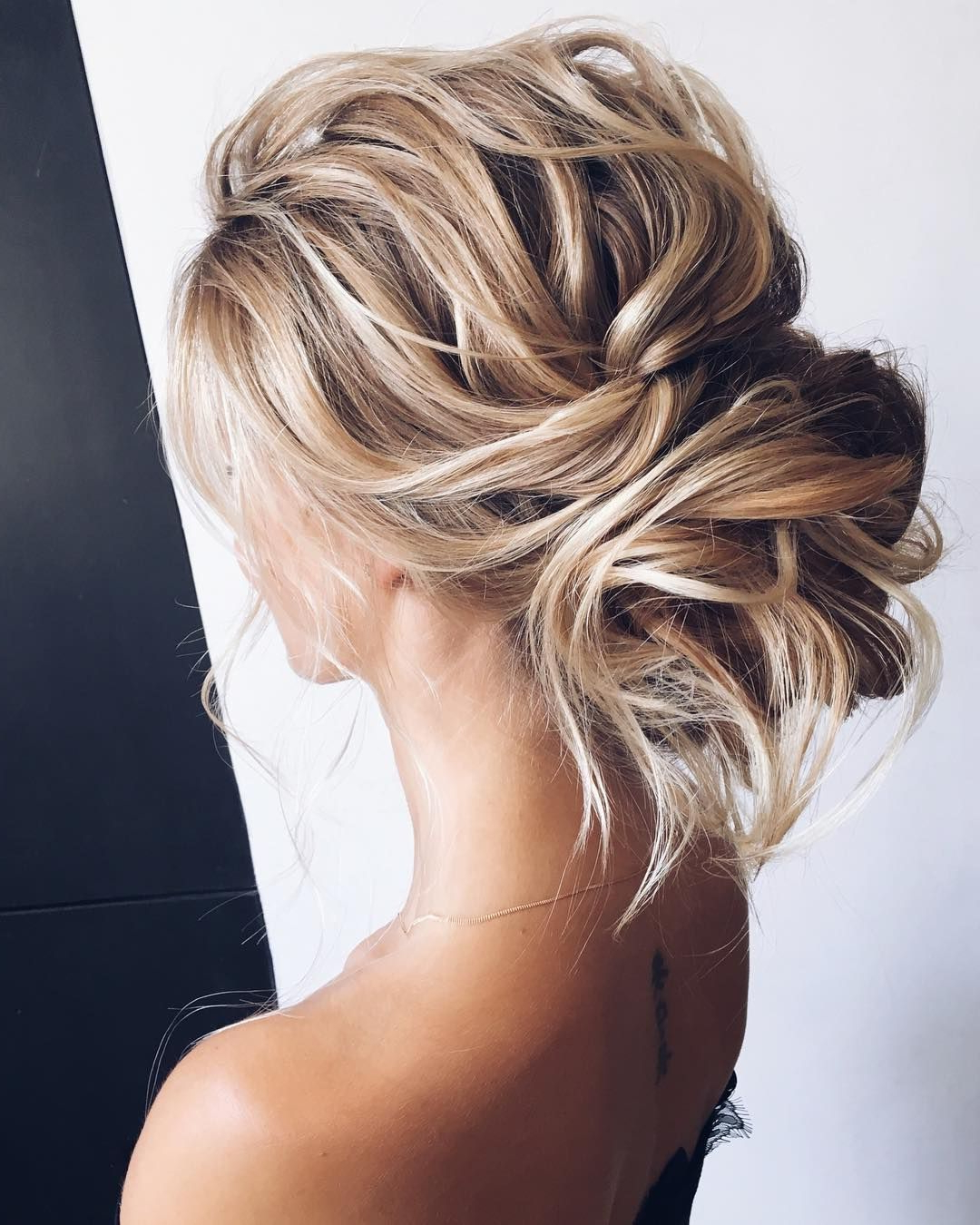 Pinterest Within Trendy Bold Blonde Bun Bridal Updos (View 16 of 20)