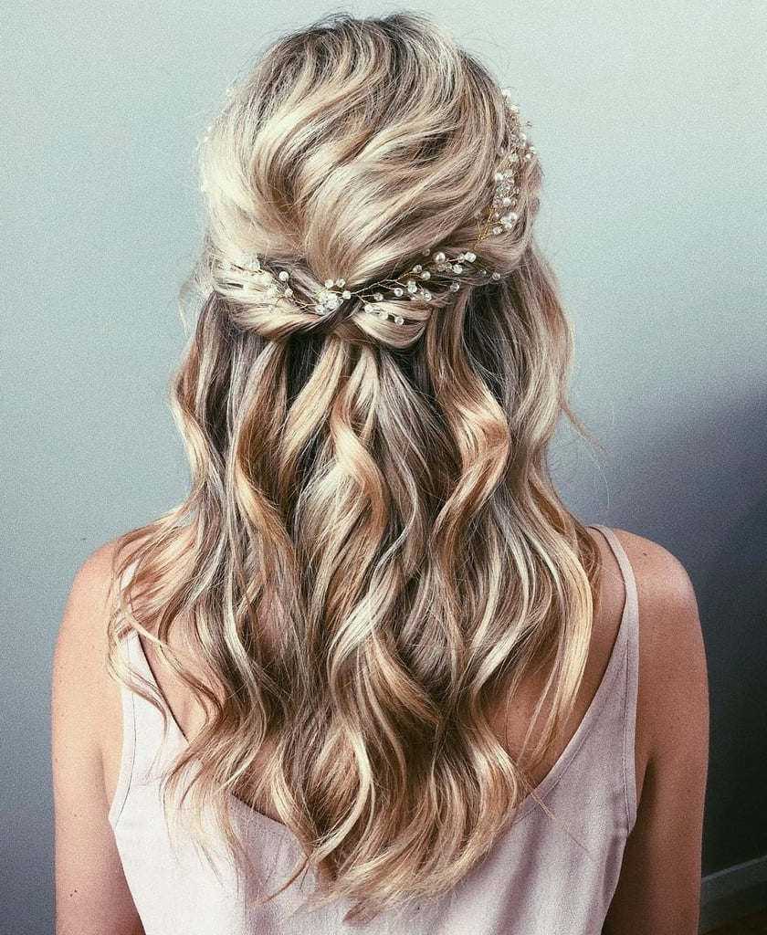 Popsugar Beauty Australia Inside Widely Used French Braided Halfdo Bridal Hairstyles (View 17 of 20)