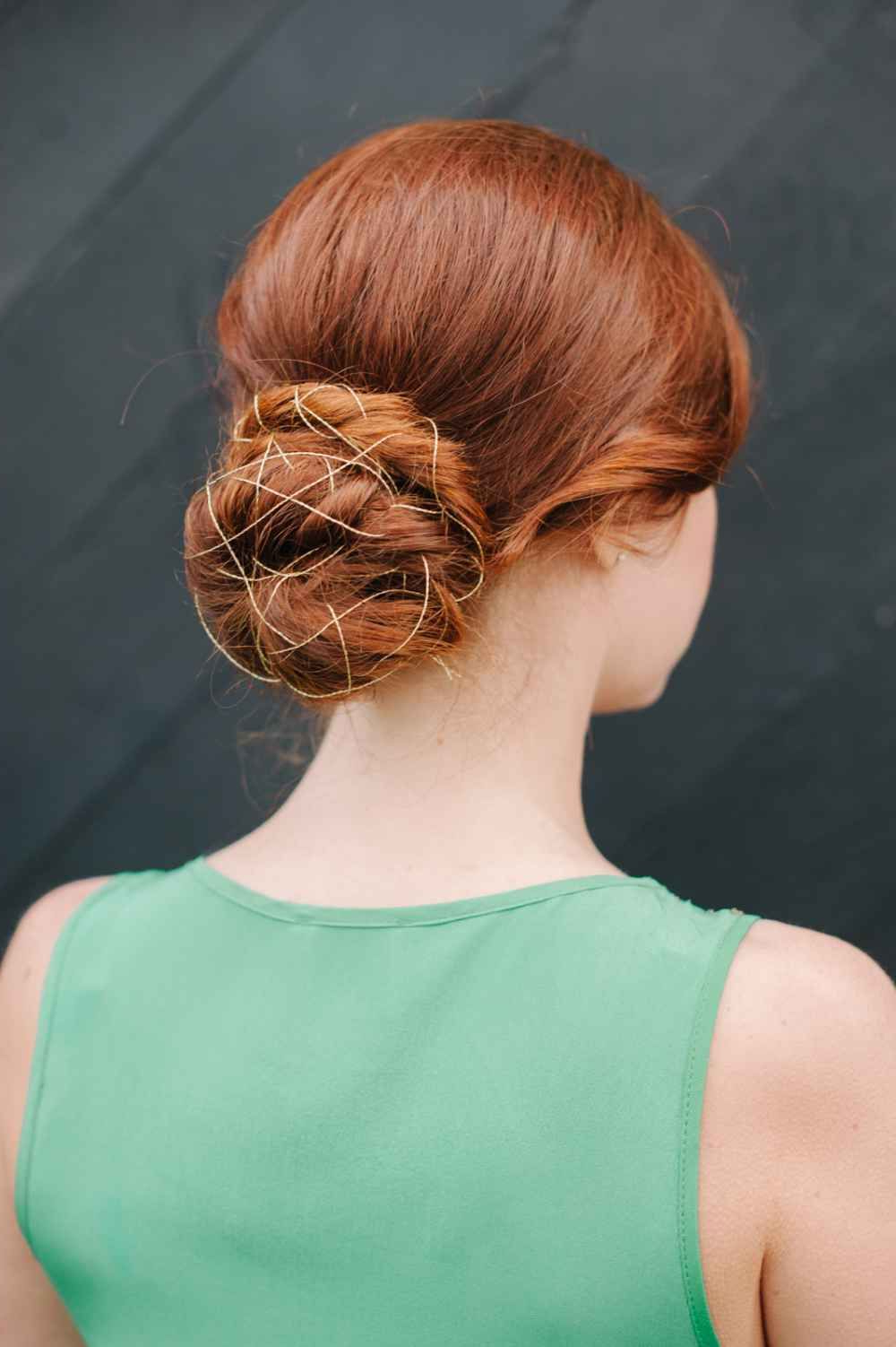 Popular Bedazzled Chic Hairstyles For Wedding Inside Bedazzled Bun. Thread A Bobby Pin With Your Choice Of Thread, Etc (Gallery 8 of 20)
