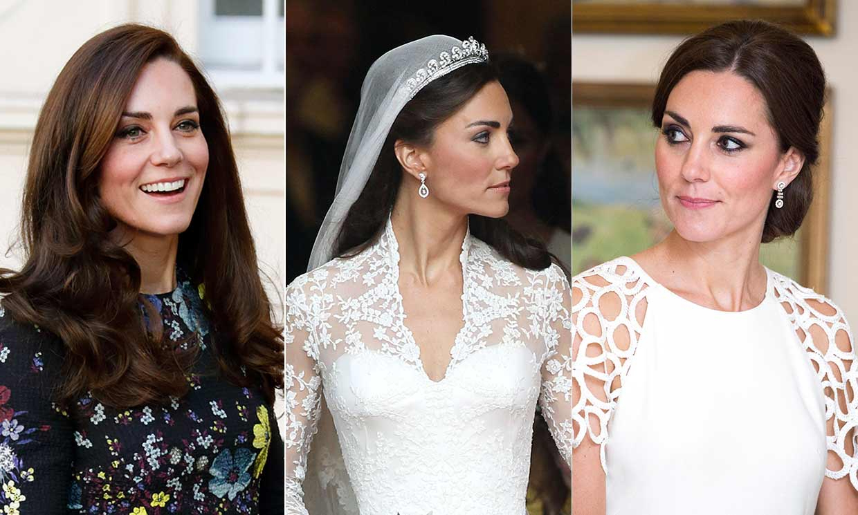 Popular Brushed Back Beauty Hairstyles For Wedding With 11 Times Kate Middleton Gave Us Wedding Hair Inspiration – Photo (View 14 of 20)