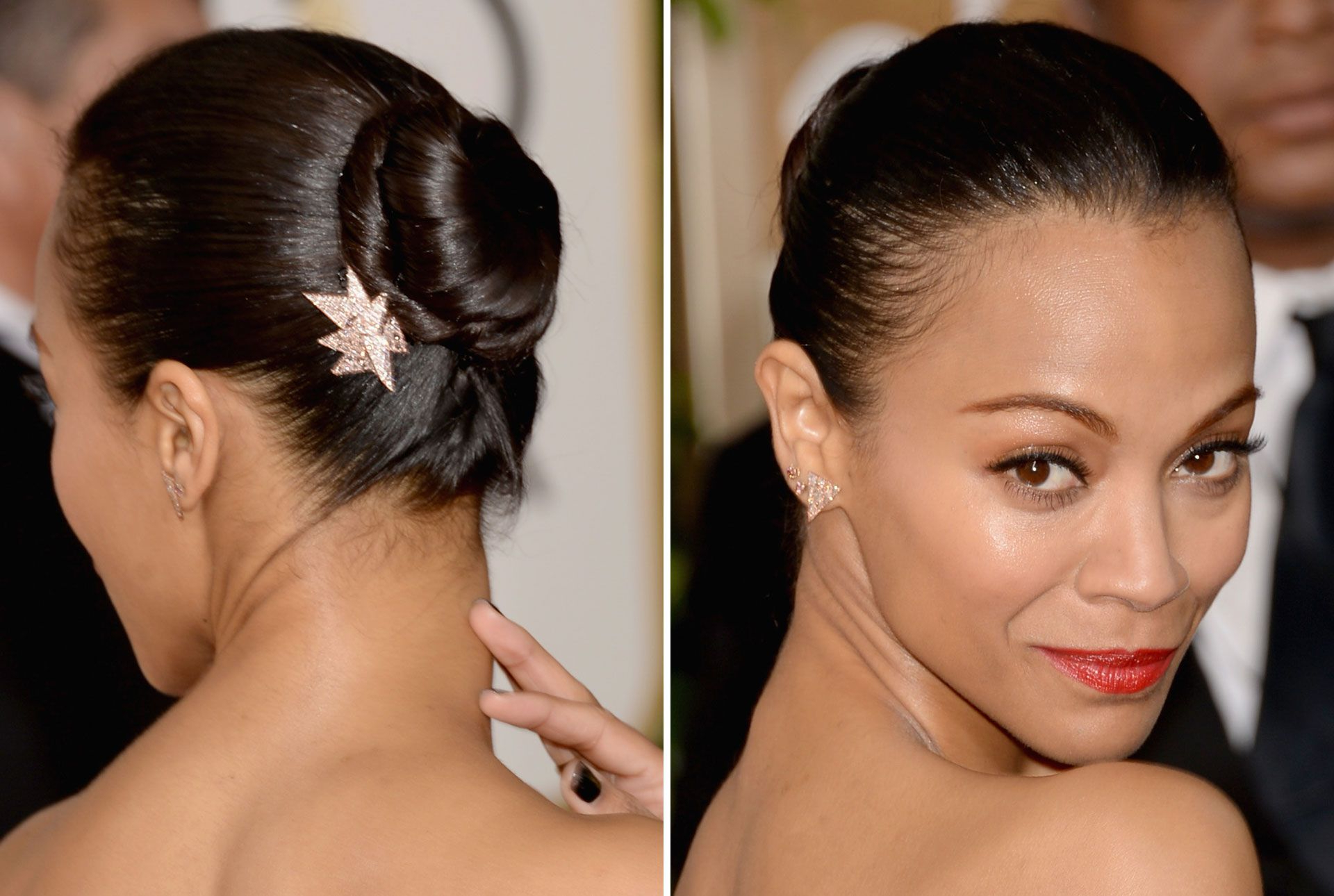 Popular Brushed Back Bun Bridal Hairstyles Pertaining To 20 Easy Wedding Guest Hairstyles – Best Hair Ideas For Wedding Guests (View 13 of 20)