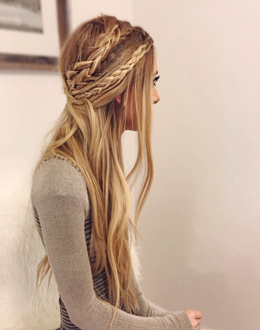 Featured Photo of Double Braided Look Wedding Hairstyles For Straightened Hair