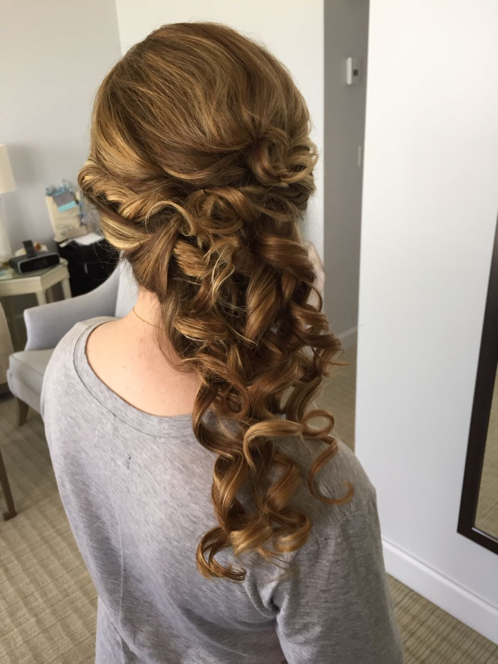Popular Fabulous Cascade Of Loose Curls Bridal Hairstyles With Cascading Curls, Side Pony, Bridal Hairstyle (View 7 of 20)