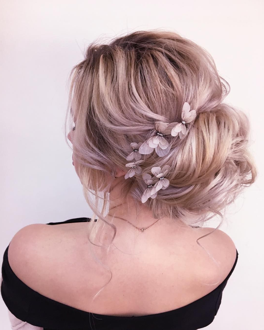 Popular Messy Bridal Updo Bridal Hairstyles Throughout 79 Beautiful Bridal Updos Wedding Hairstyles For A Romantic Bridal (View 15 of 20)