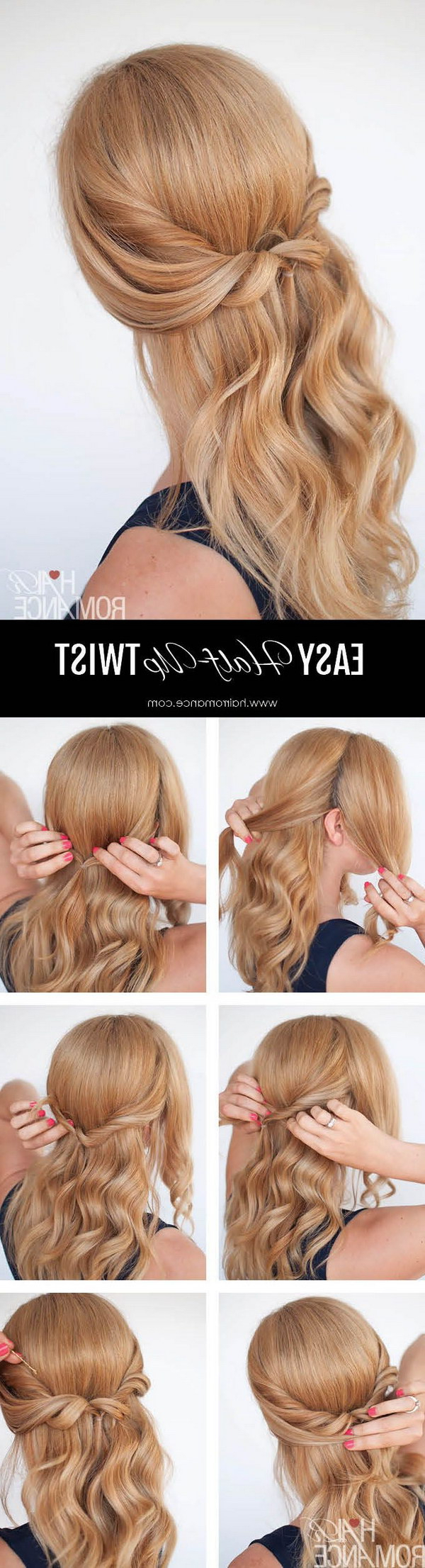 Popular Twisted And Pinned Half Up Wedding Hairstyles Pertaining To 55+ Stunning Half Up Half Down Hairstyles (View 14 of 20)