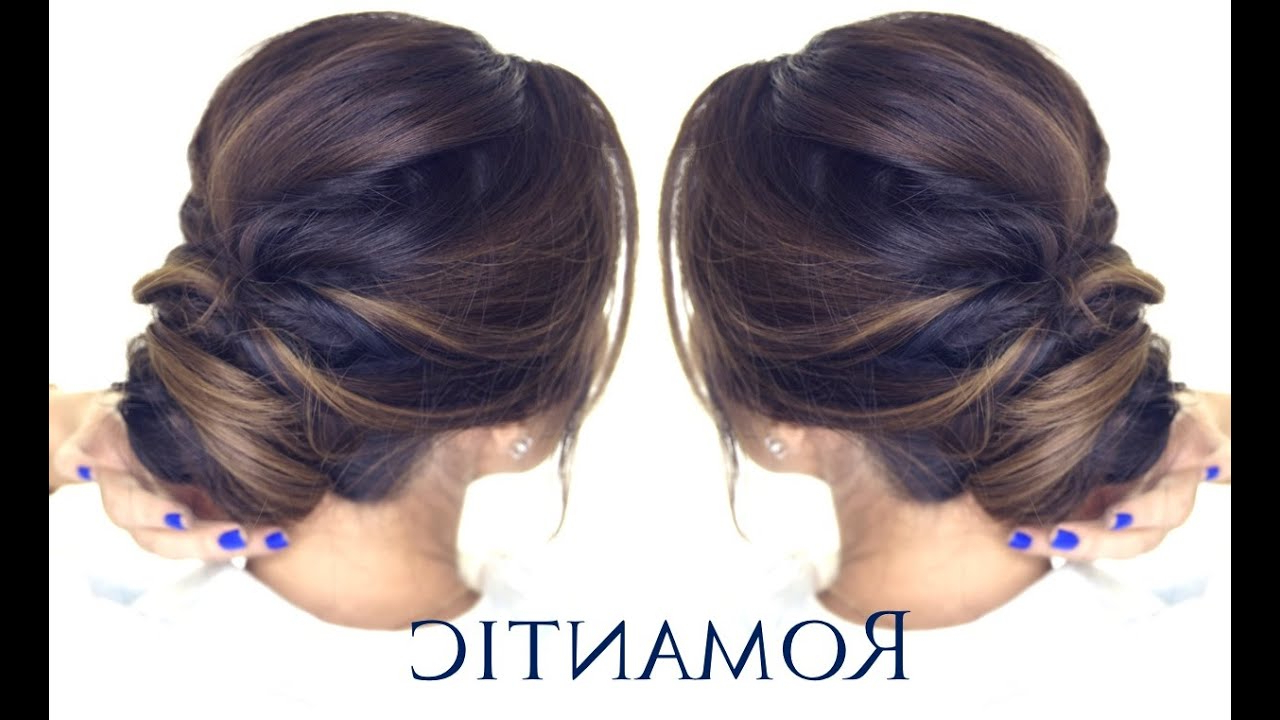 Popular Twisted Low Bun Hairstyles For Wedding In 5 Minute Romantic Bun Hairstyle (View 14 of 20)