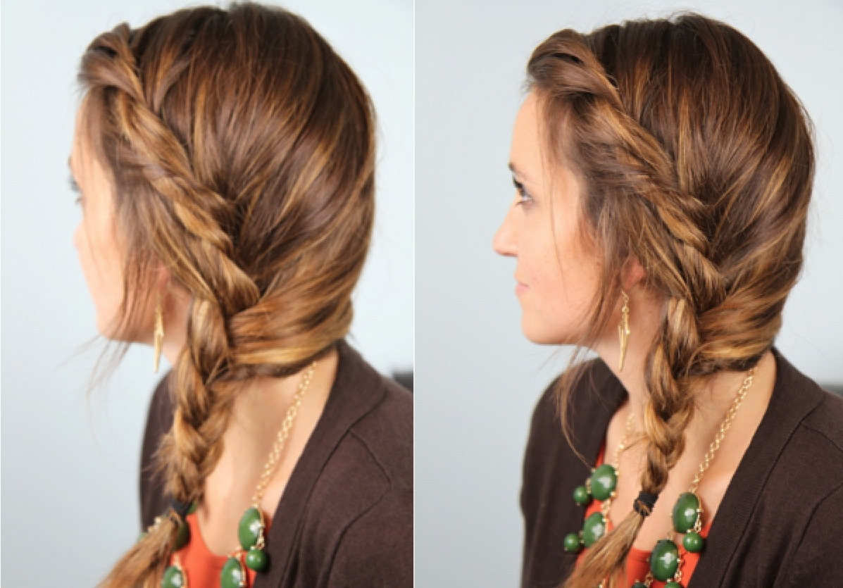 Popular Twisted Side Updo Hairstyles For Wedding Intended For Subtle Twist Into Side Braid (View 13 of 20)