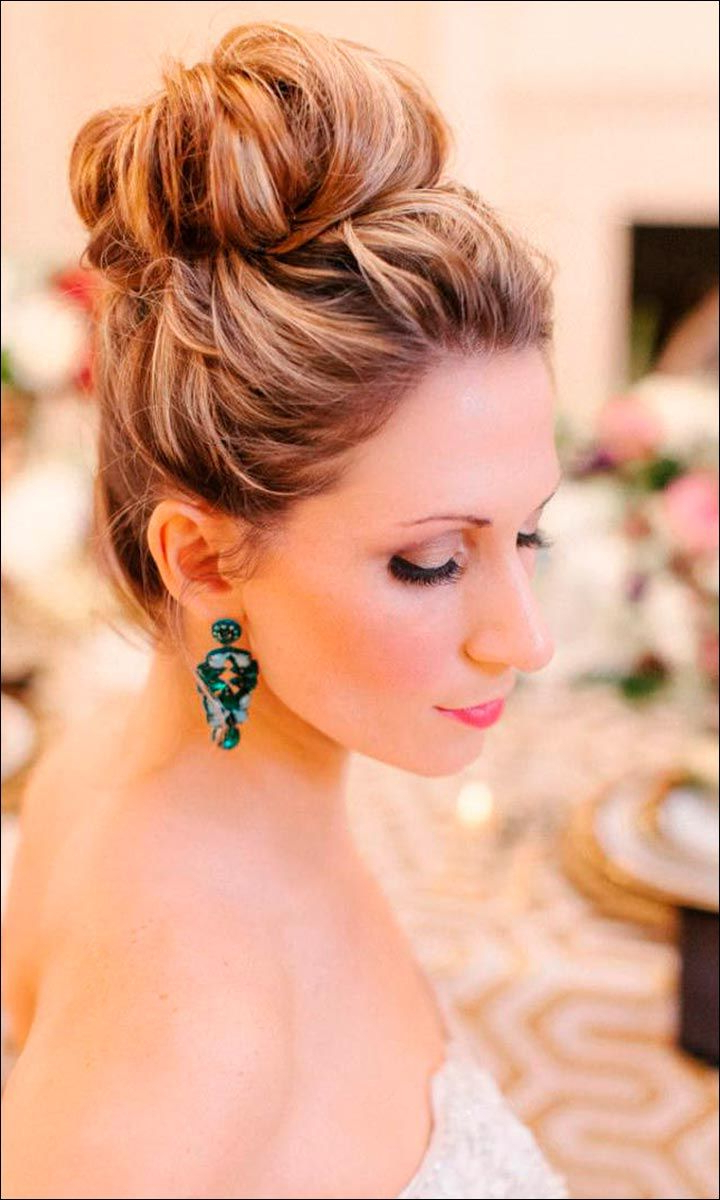 Popular Woven Updos With Tendrils For Wedding Regarding 47 Glorious & Gorgeous Wedding Hairstyles For Medium Hair (View 5 of 20)