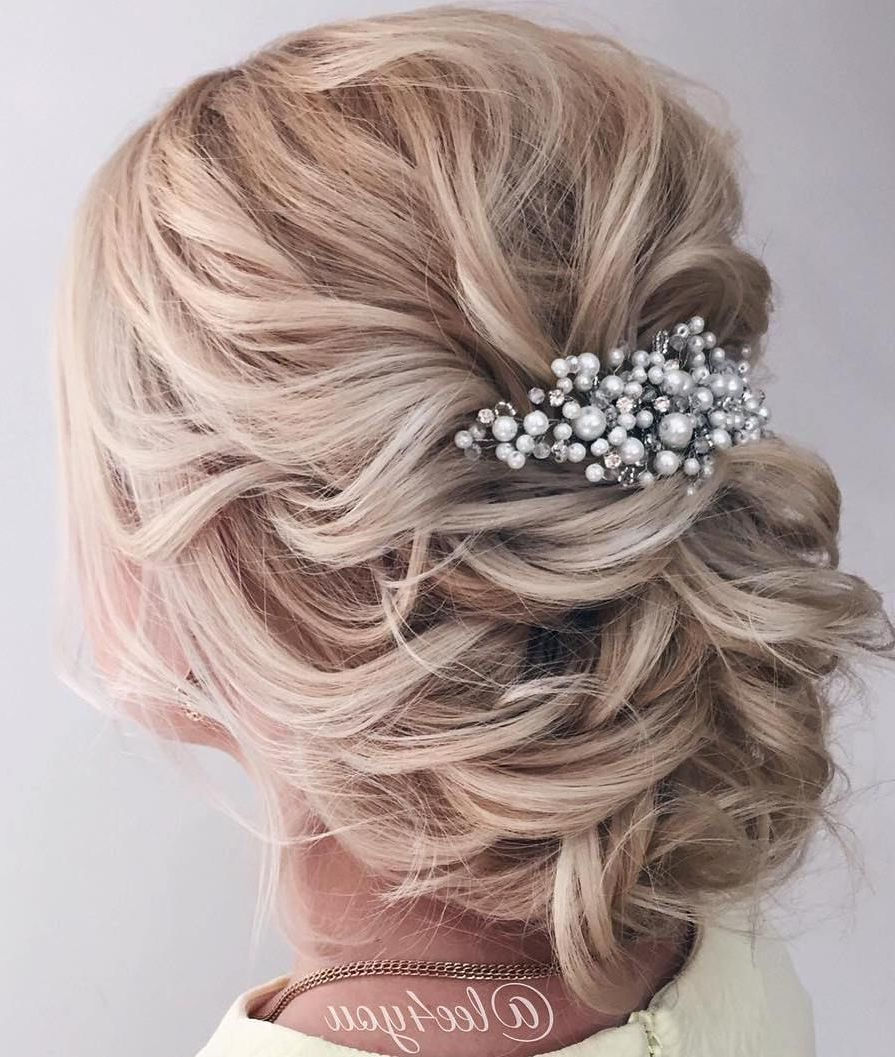 Preferred Blonde Polished Updos Hairstyles For Wedding Regarding 40 Chic Wedding Hair Updos For Elegant Brides In (View 2 of 20)