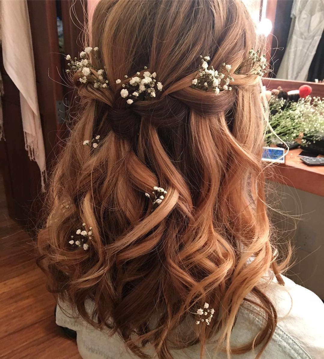 Preferred Dimensional Waves In Half Up Wedding Hairstyles Inside 10 Lavish Wedding Hairstyles For Long Hair – Wedding Hairstyle Ideas (View 17 of 20)