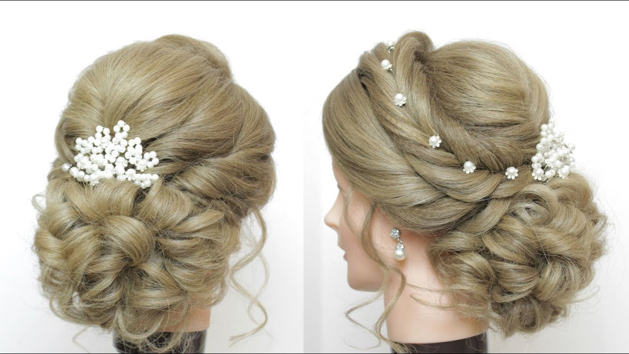 Preferred Formal Bridal Hairstyles With Volume Throughout Romantic Wedding Updo. Bridal Hairstyle For Long Hair Tutorial – Youtube (Gallery 8 of 20)