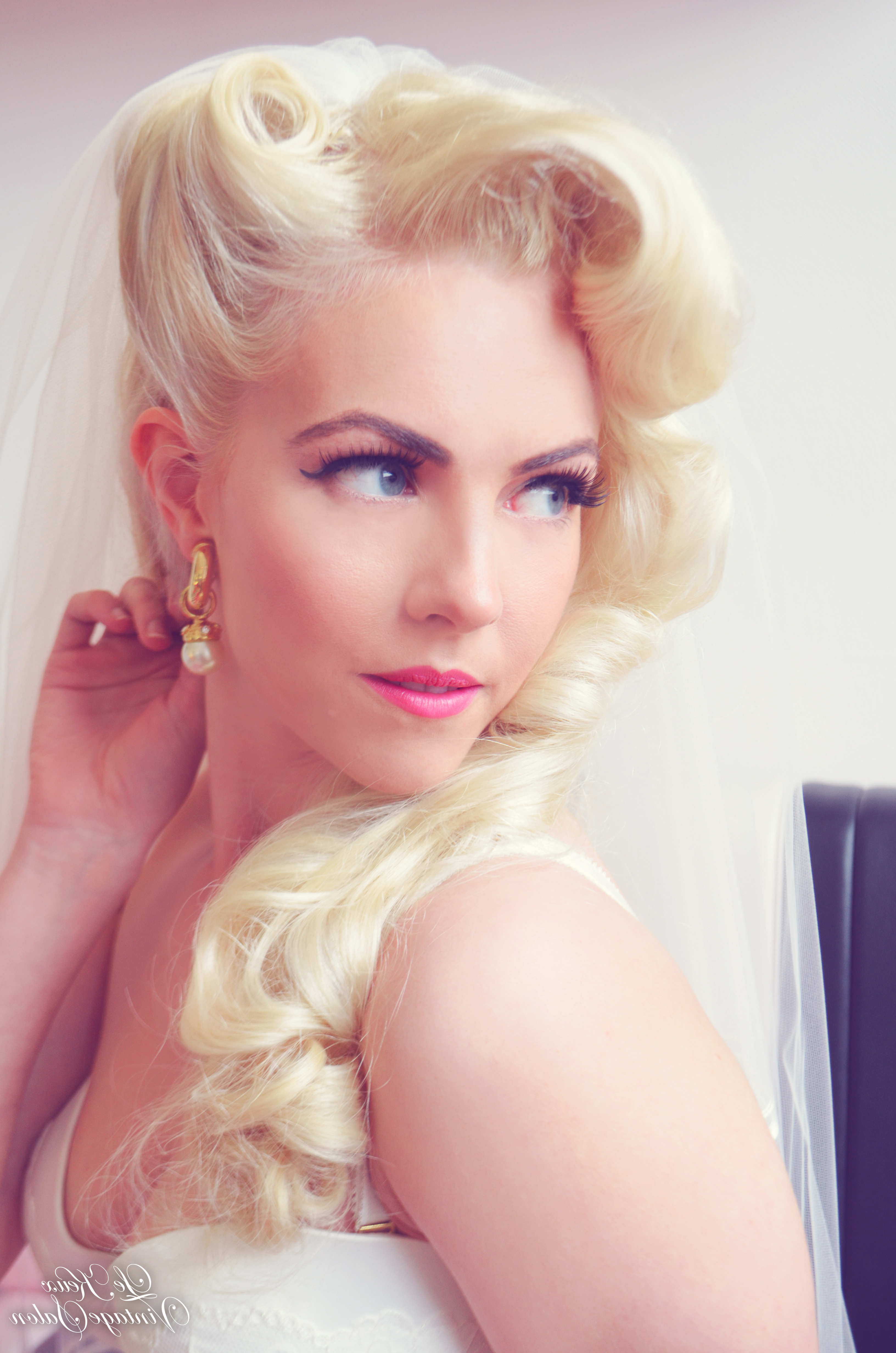 Preferred Pin Up Curl Hairstyles For Bridal Hair Inside How To Prepare For Your Bridal Hair Trial – Le Keux Vintage Salon (Gallery 12 of 20)