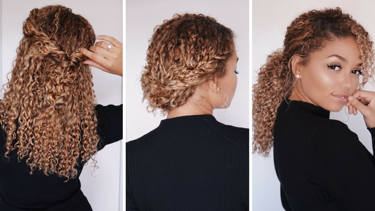 Preferred Professionally Curled Short Bridal Hairstyles Pertaining To 3 Super Easy Hairstyles For 3B/3C Curly Hair (View 17 of 20)
