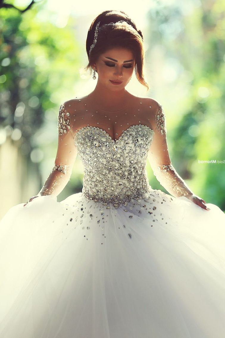 Preferred Sleek And Big Princess Ball Gown Updos For Brides Intended For Cinderella's Dream Come True! 23 Seriously Stunning Wedding Dresses (View 11 of 20)