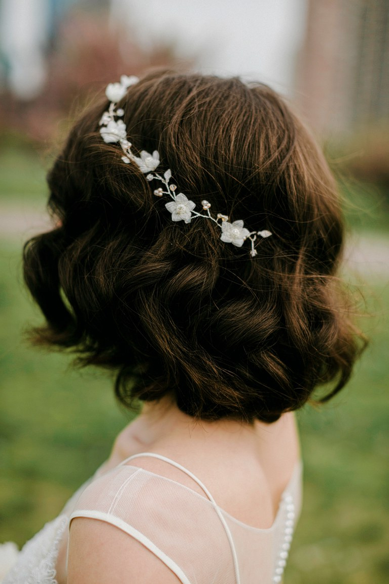 Preferred Spiraled Wedding Updos For 17 Wedding Hairstyles For Medium Length Hair (View 15 of 20)
