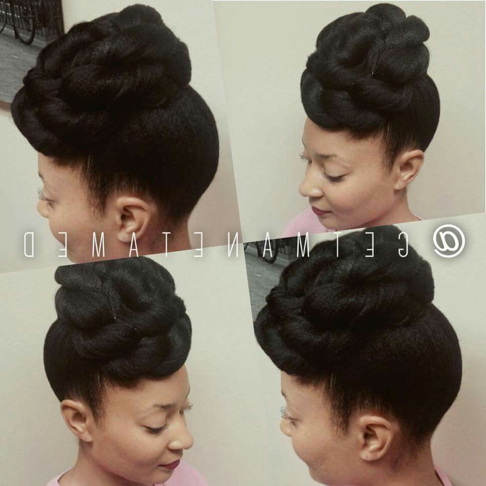 Preferred Two Toned Twist Updos For Wedding Pertaining To Pin Up. Popmpadour. Updos. Natural Hair Updos. Weddings Updos (Gallery 10 of 20)