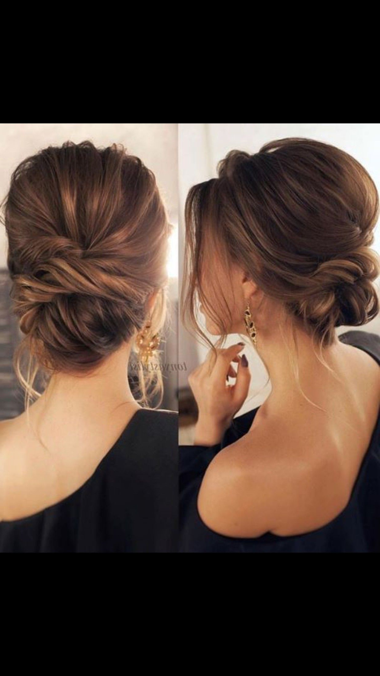 Pretty Soft Low Bun Updo / Bridal Hair Wedding Hair (low Hair Buns Pertaining To Well Liked Blonde Polished Updos Hairstyles For Wedding (View 8 of 20)