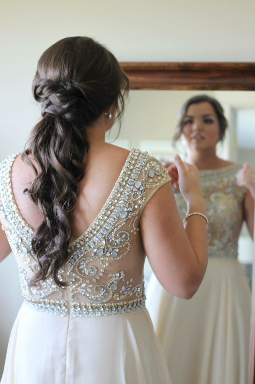 Prom Hair, Curly Ponytail, Twisted Ponytail, Prom (View 18 of 20)