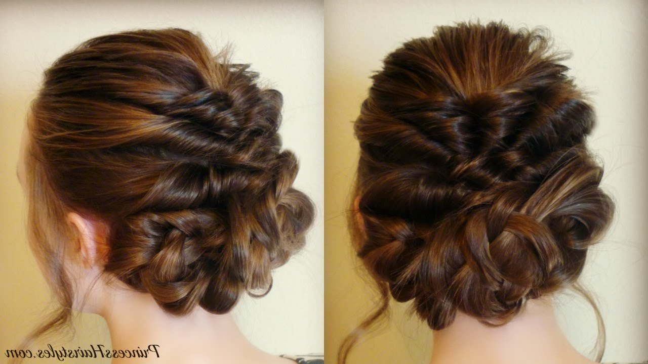 Prom & Wedding Hairstyle! Romantic Updo With Twists And Braids – Youtube With Recent Infinity Wedding Updos (View 17 of 20)