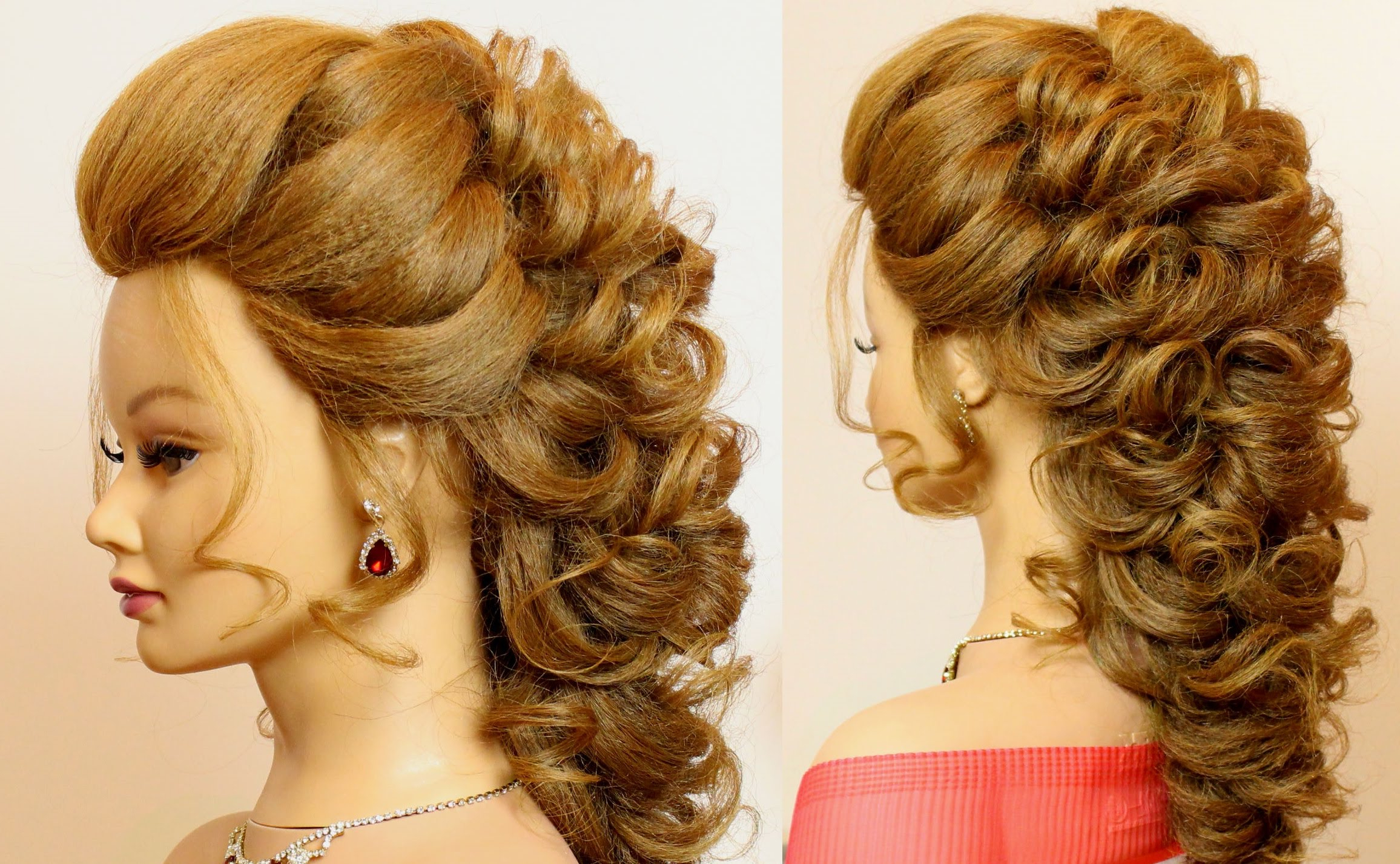 Prom Wedding Hairstyles For Long Medium Hair Makeup Videos – Home Within Widely Used Formal Curly Updos With Bangs For Wedding (View 18 of 20)