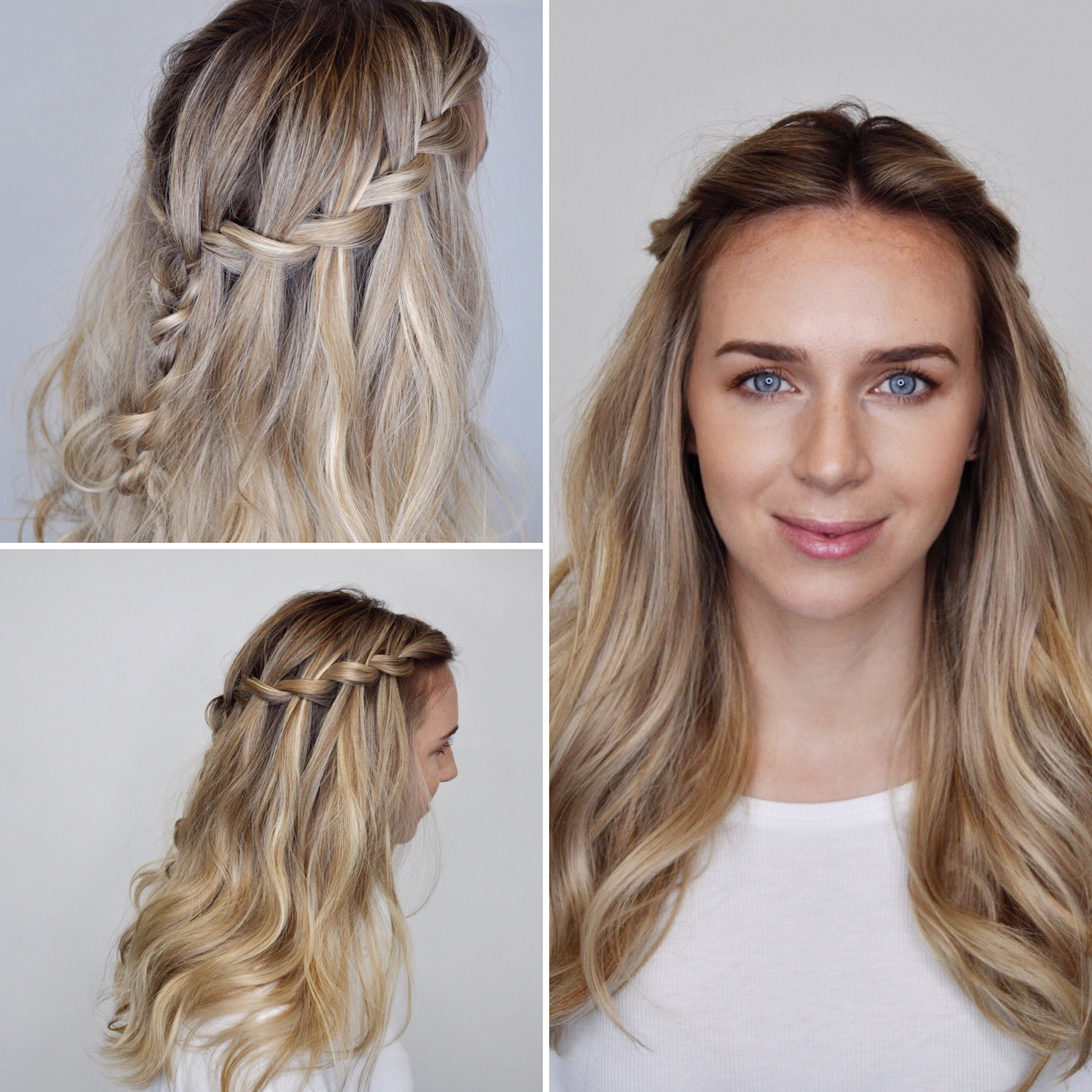 Featured Photo of Simplified Waterfall Braid Wedding Hairstyles