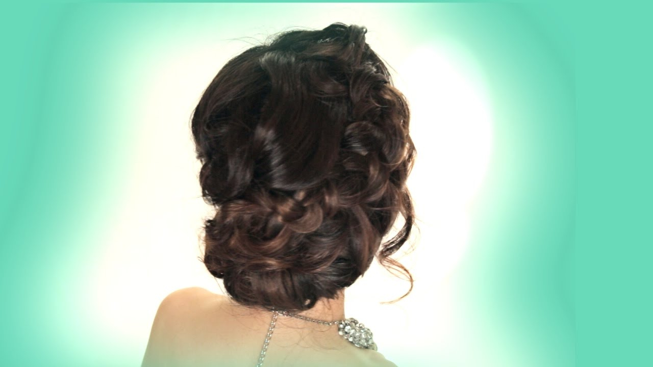 Recent Bohemian Braided Bun Bridal Hairstyles For Short Hair With Prom Updo Hairstyle (Gallery 17 of 20)