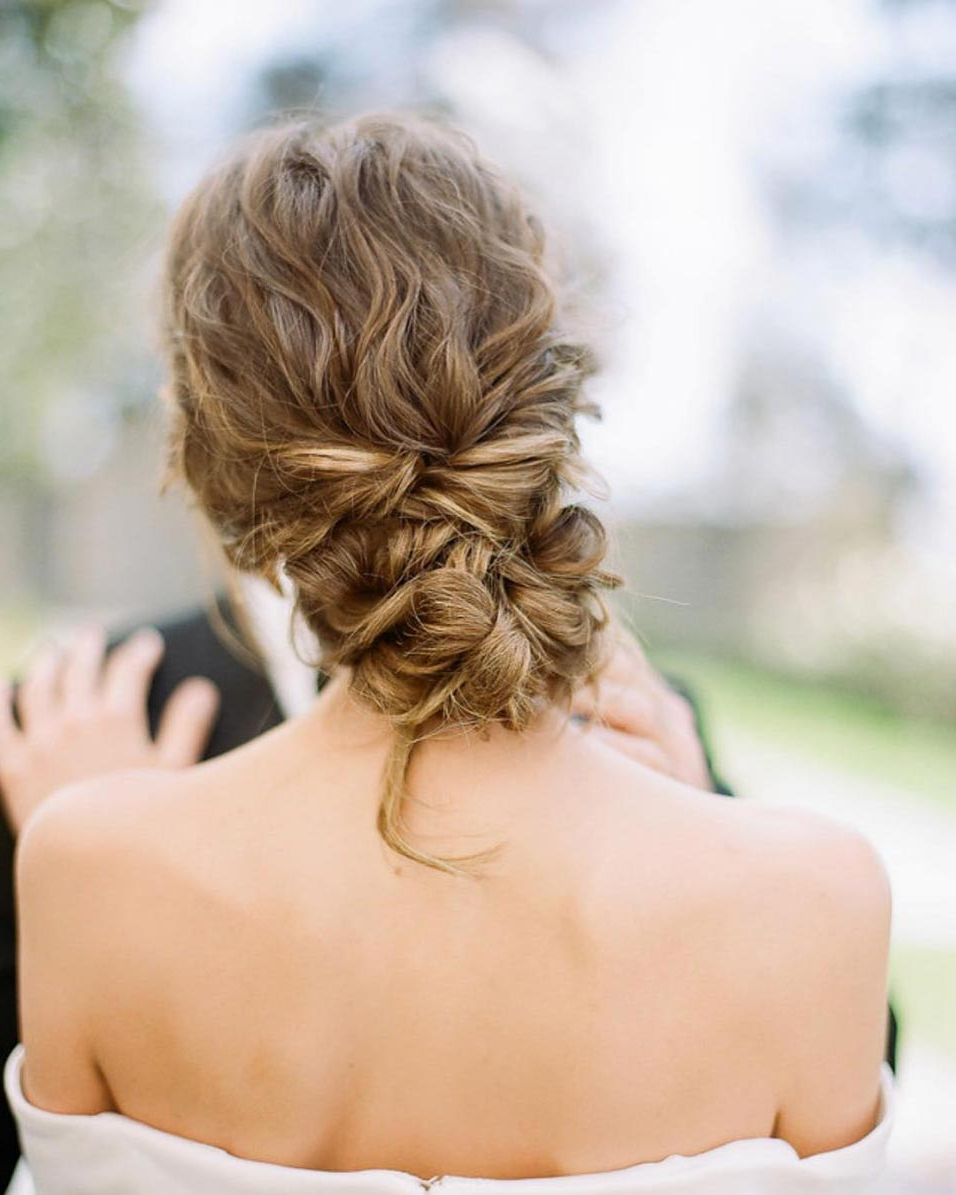Recent Subtle Curls And Bun Hairstyles For Wedding With 34 Loose Wedding Updos For Brides With Long Hair ⋆ Ruffled (Gallery 7 of 20)