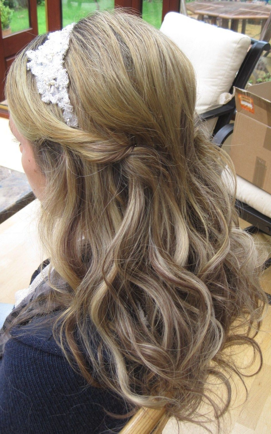 Recent Teased Half Up Bridal Hairstyles With Headband Throughout Fabulous Wedding Hairstyles Half Up For Thin Hair Model (Gallery 1 of 20)