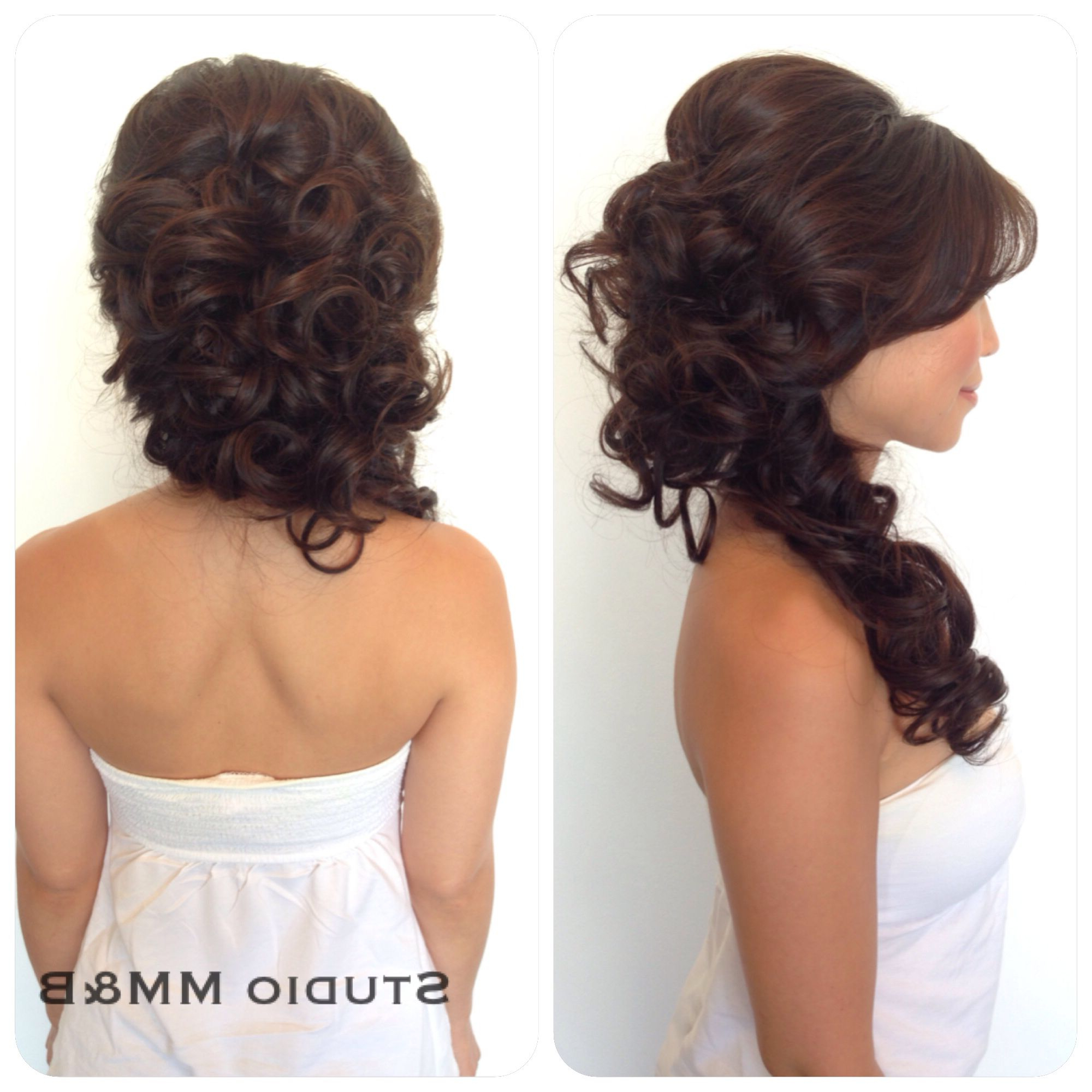 Recent Voluminous Side Wedding Updos In Hairstudio Mm&b. Voluminous Half Up And Half Down Hairdo To The (Gallery 17 of 20)