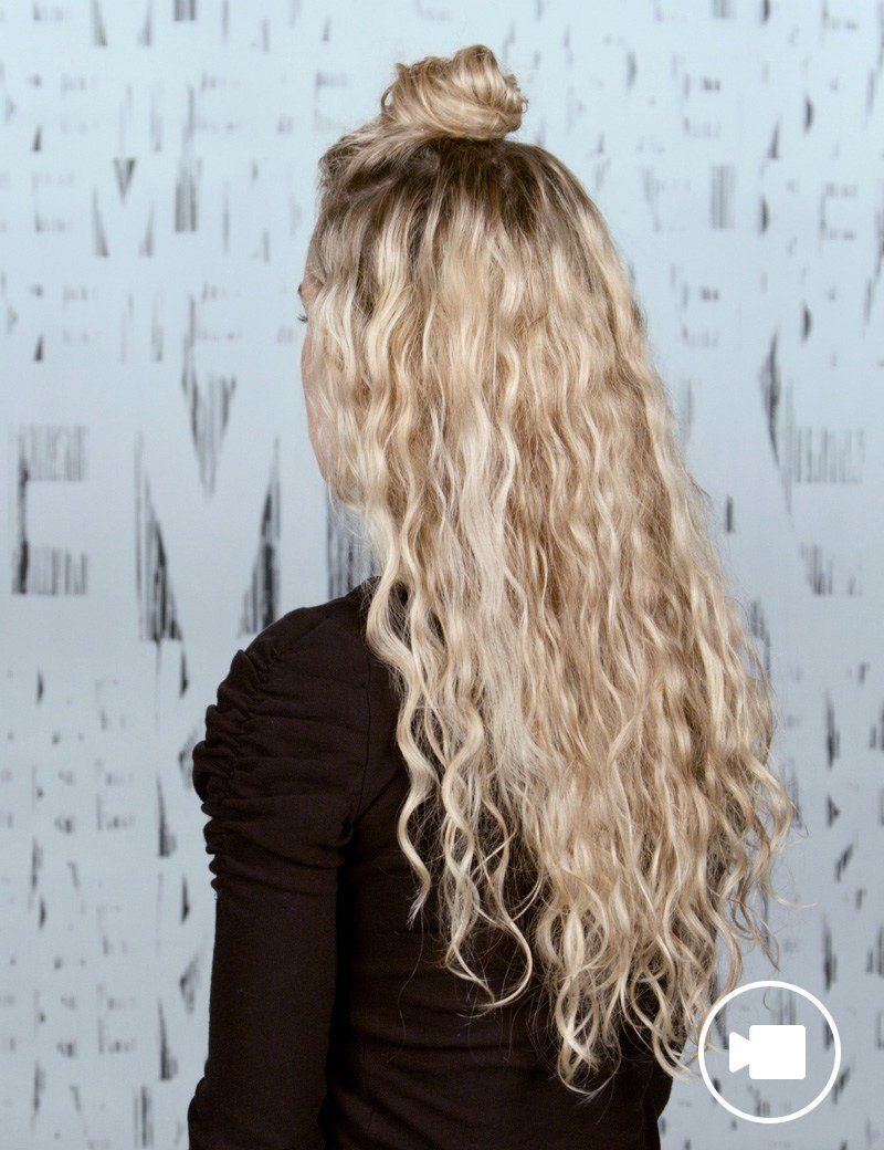 Redken Regarding Fashionable Half Up Blonde Ombre Curls Bridal Hairstyles (View 17 of 20)