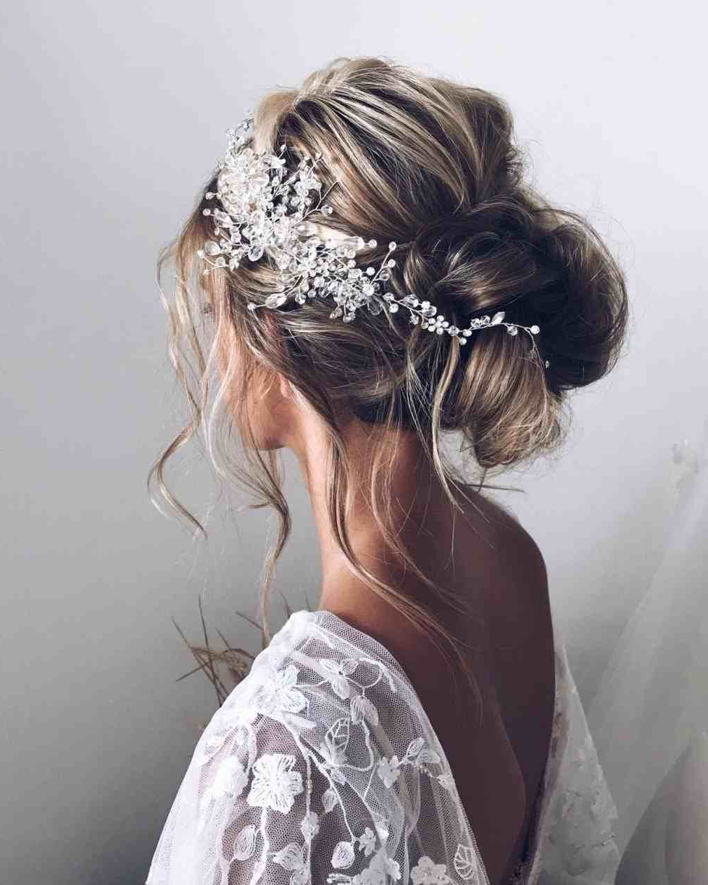 Relaxed Wedding Hairstyles Bohemian Updo Wedding Hair Bunulyana Throughout Recent Woven Updos With Tendrils For Wedding (View 4 of 20)