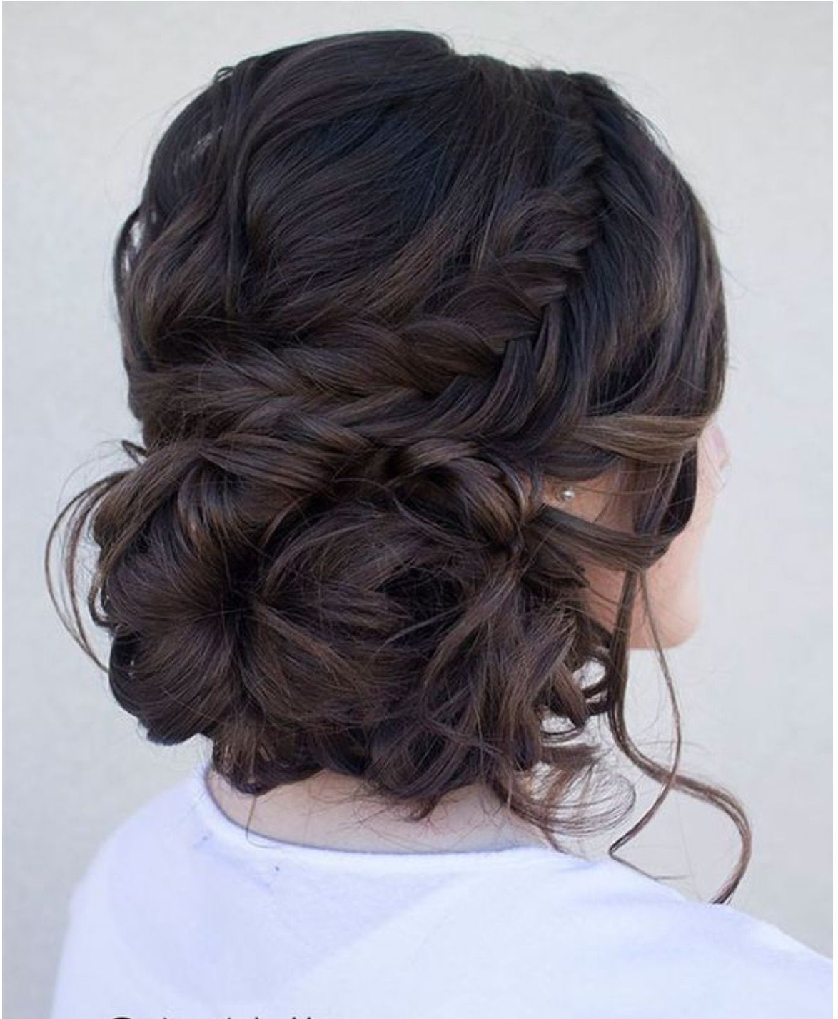Sam Updo On Dark Brown Hair As Opposed To Highlighted (View 12 of 20)
