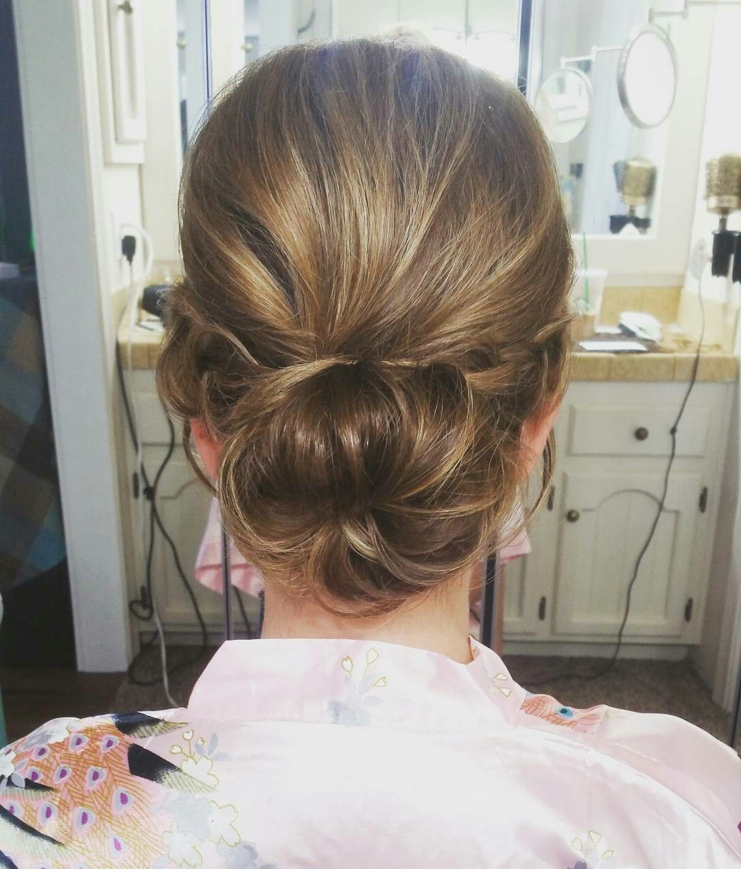 Simple Low Bun. Twisted Updo. Wedding Hairstyles (View 15 of 20)