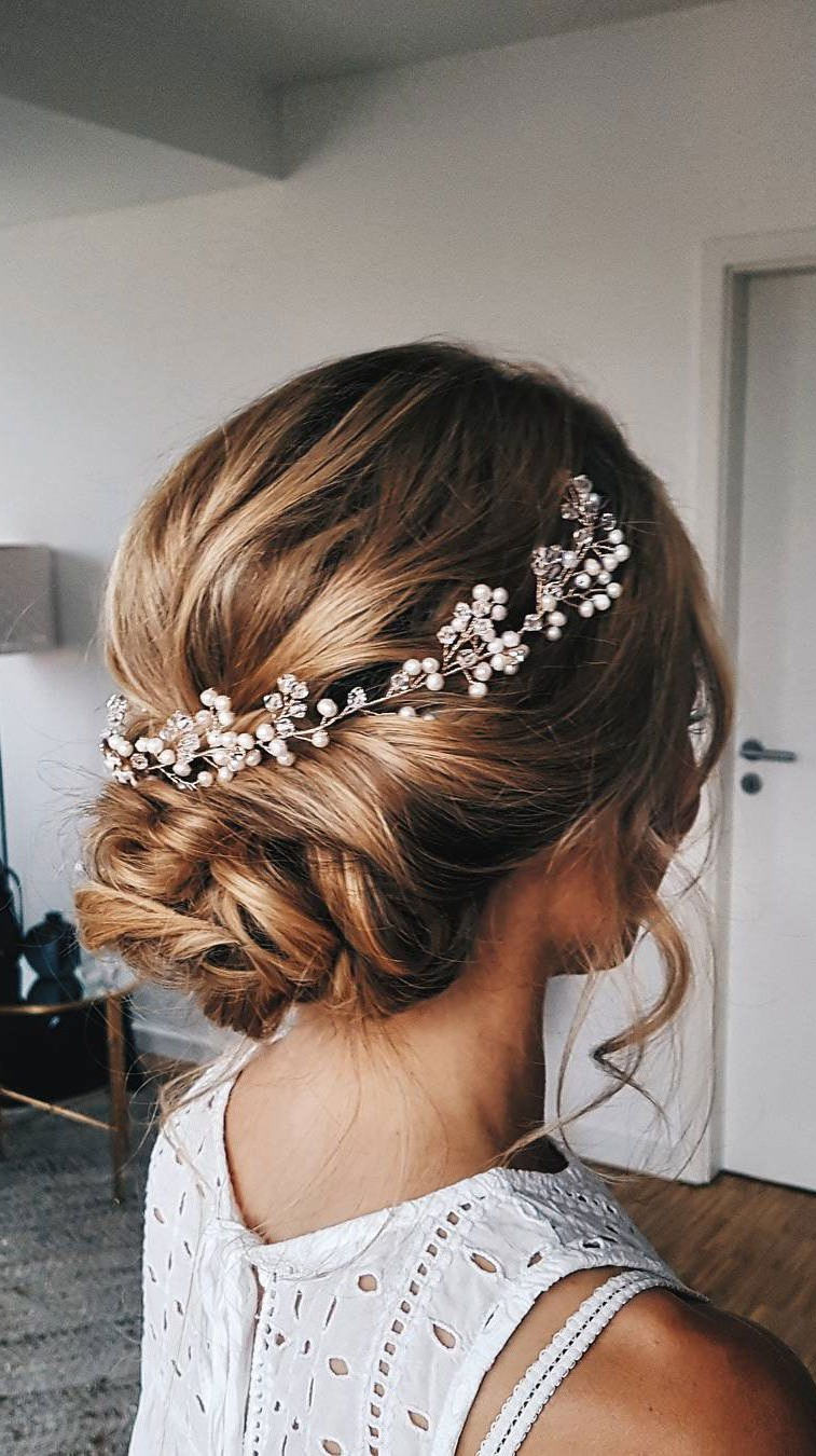 Small Wedding Throughout Most Popular Short Classic Wedding Hairstyles With Modern Twist (Gallery 1 of 20)