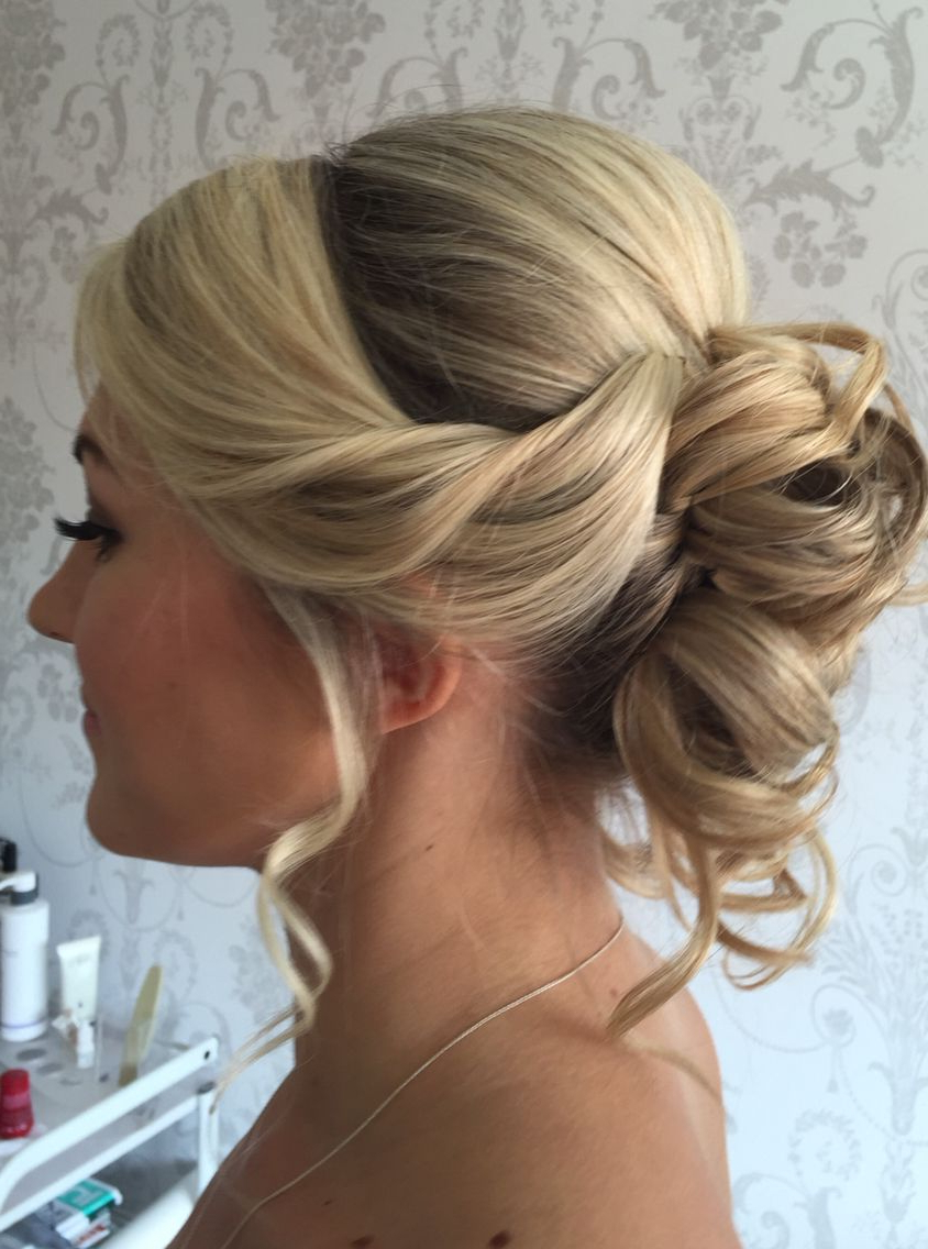 Soft #bridal #hair #updo #blonde #wedding #ideas #bridesmaids #curls Throughout Most Recently Released Curled Bridal Hairstyles With Tendrils (Gallery 14 of 20)