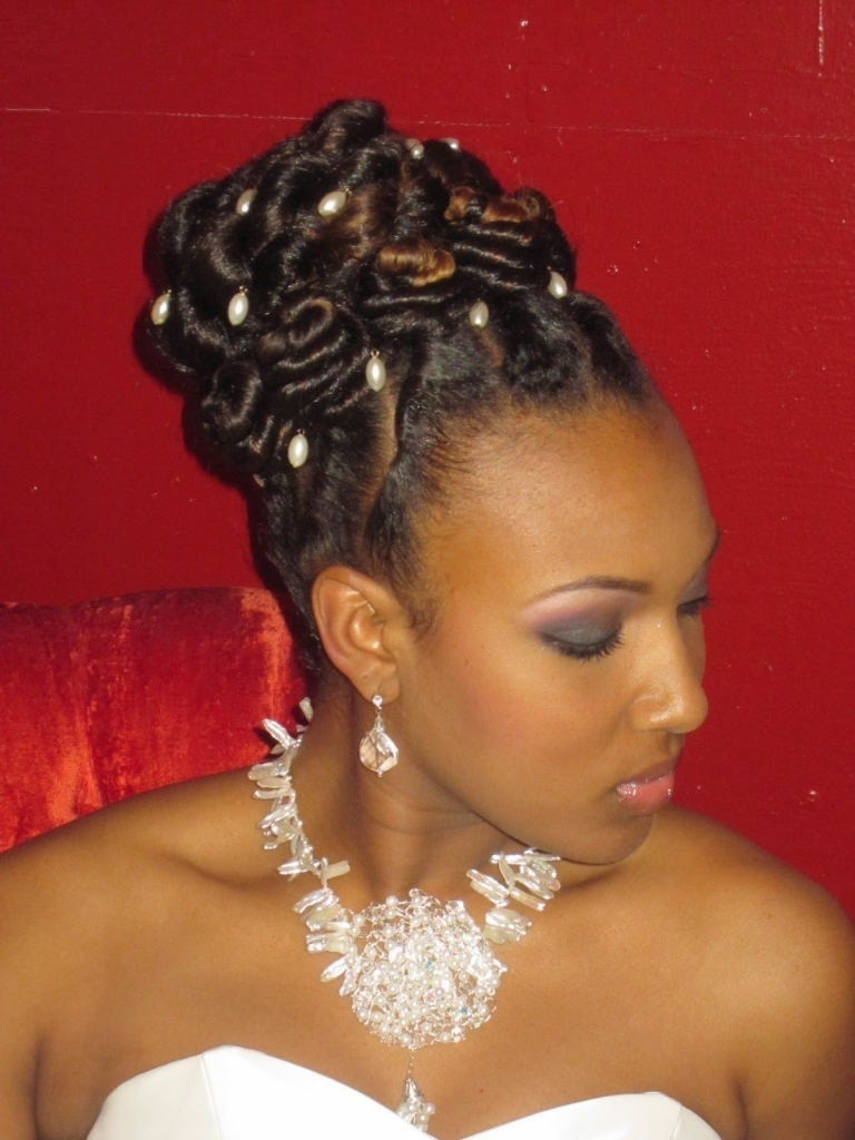 Styles & Ideas: Astonishing African American Wedding Hairstyles For Newest Short And Flat Updo Hairstyles For Wedding (View 15 of 20)