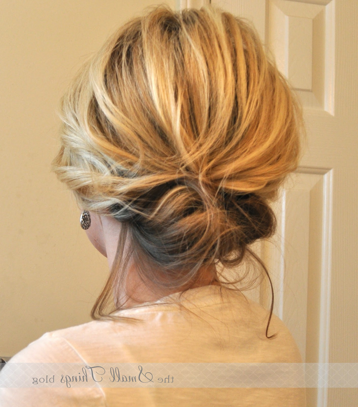 The Chic Updo – The Small Things Blog In Most Popular Fancy Chignon Wedding Hairstyles For Lob Length Hair (Gallery 7 of 20)