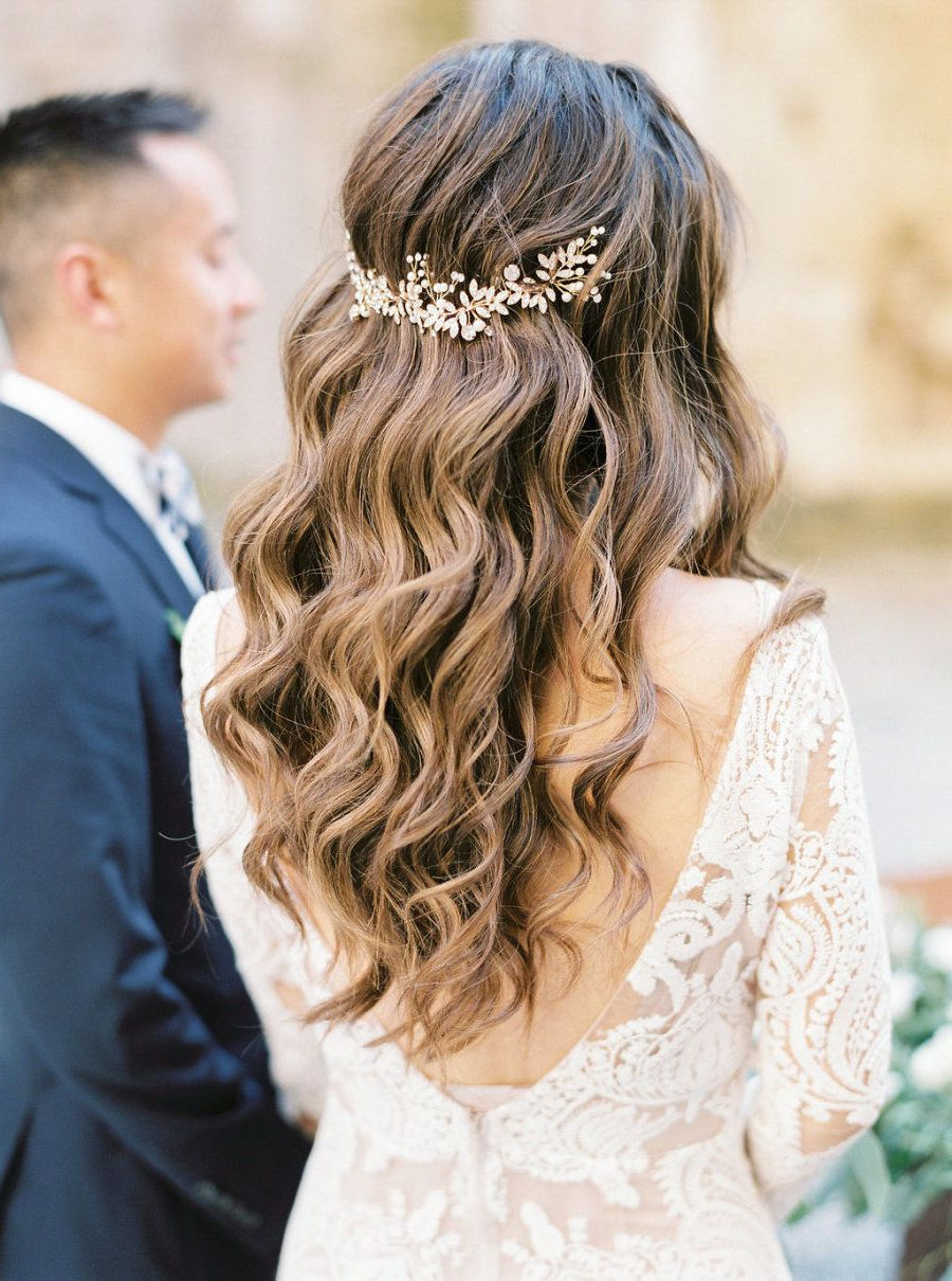 The Tiniest Wedding With The Grandest Heart In Tuscany, Italy In Regarding 2017 Bohemian Curls Bridal Hairstyles With Floral Clip (View 18 of 20)