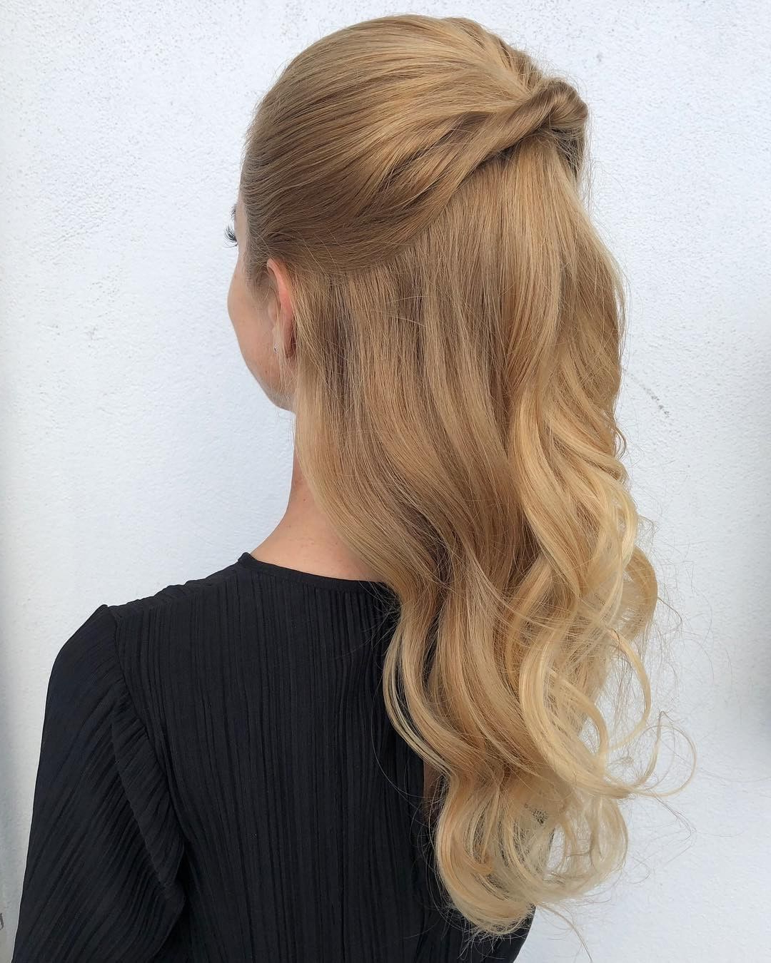 This Romantic Half Up Wedding Hair Stylehairkiesler Features With Most Recent Twists And Curls In Bridal Half Up Bridal Hairstyles (View 15 of 20)