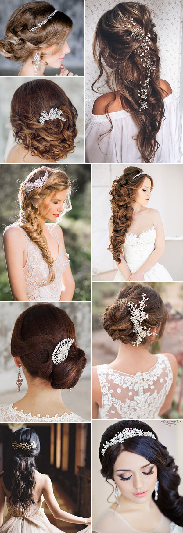 Top 20 Bridal Headpieces For Your Wedding Hairstyles Intended For Famous Half Up Wedding Hairstyles With Jeweled Clip (View 16 of 20)