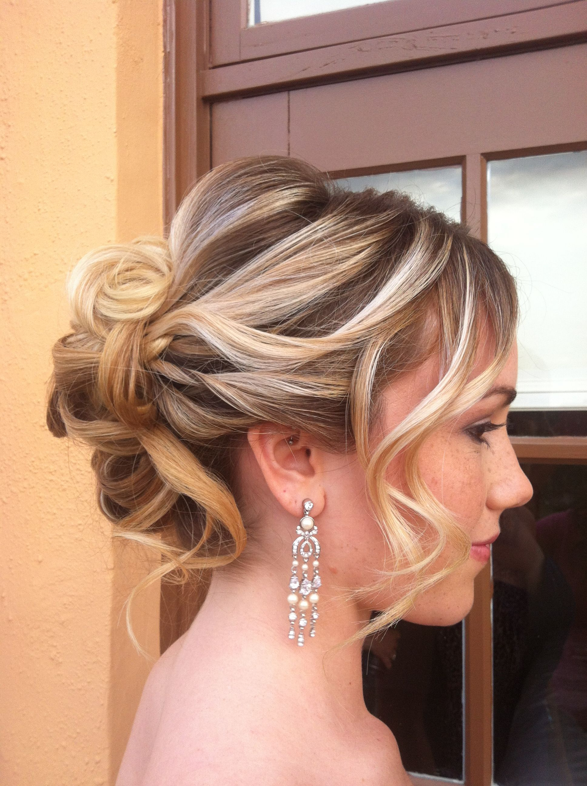 Tousled Updo Hairjanet Makeup Brittany South Beach Makeup Studio Pertaining To 2018 Tousled Asymmetrical Updo Wedding Hairstyles (View 16 of 20)
