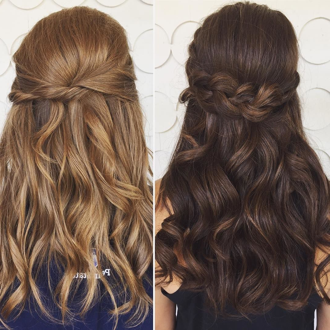 Trending Now: Half Up/ Half Down Do's With Soft Waves = Prom Hair Pertaining To Most Recent Dimensional Waves In Half Up Wedding Hairstyles (View 18 of 20)