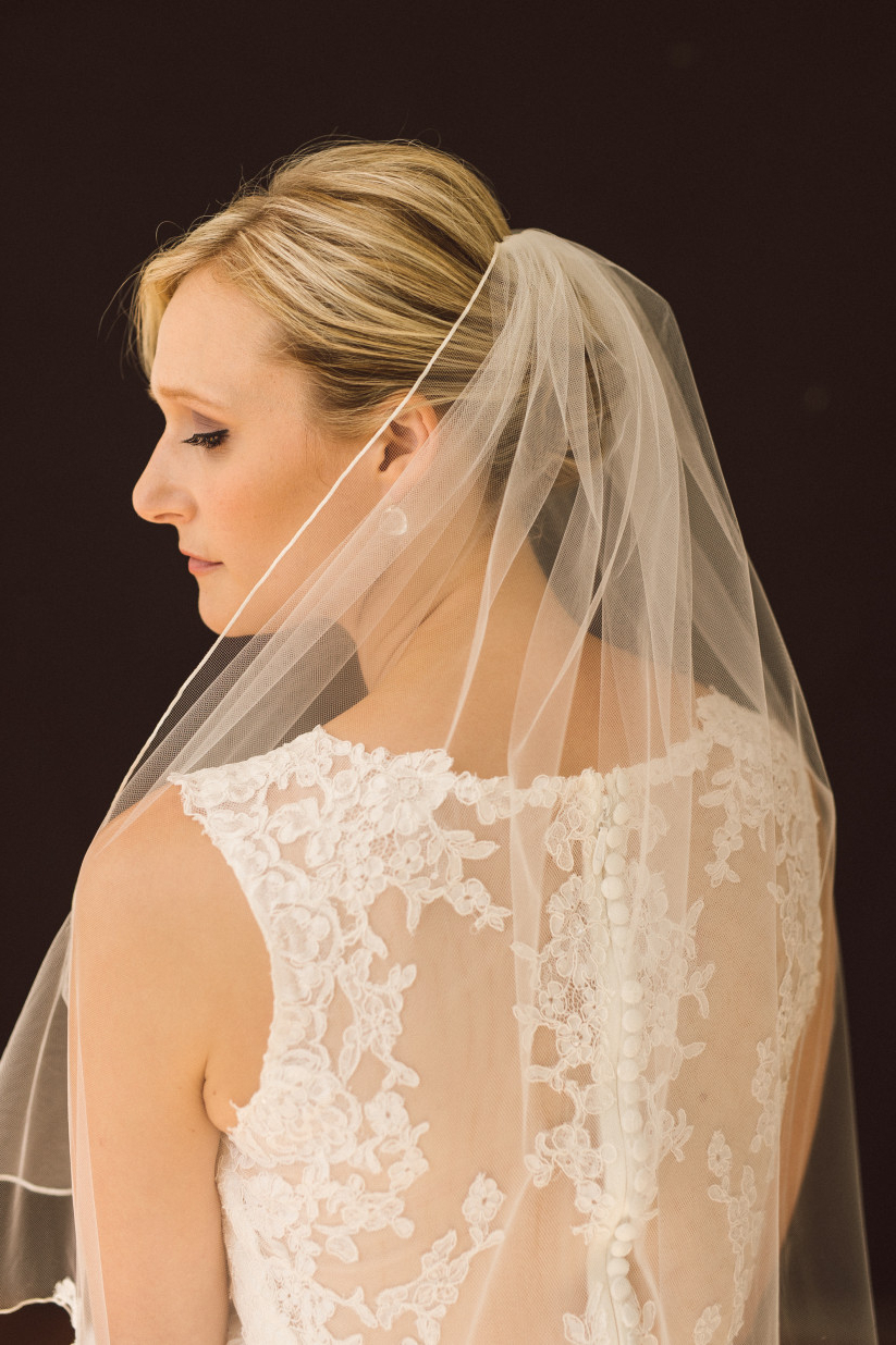 Trendy Bridal Chignon Hairstyles With Headband And Veil In How To Wear A Veil With Every Wedding Hairstyle – Weddingwire (View 16 of 20)