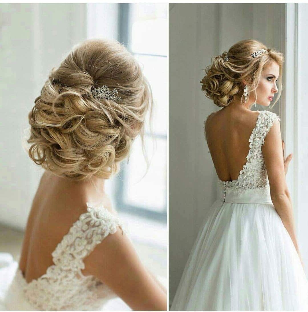 Trendy Chignon Wedding Hairstyles With Pinned Up Embellishment With 50+ Chic Wedding Hairstyles For The Perfect Bridal Look (View 17 of 20)