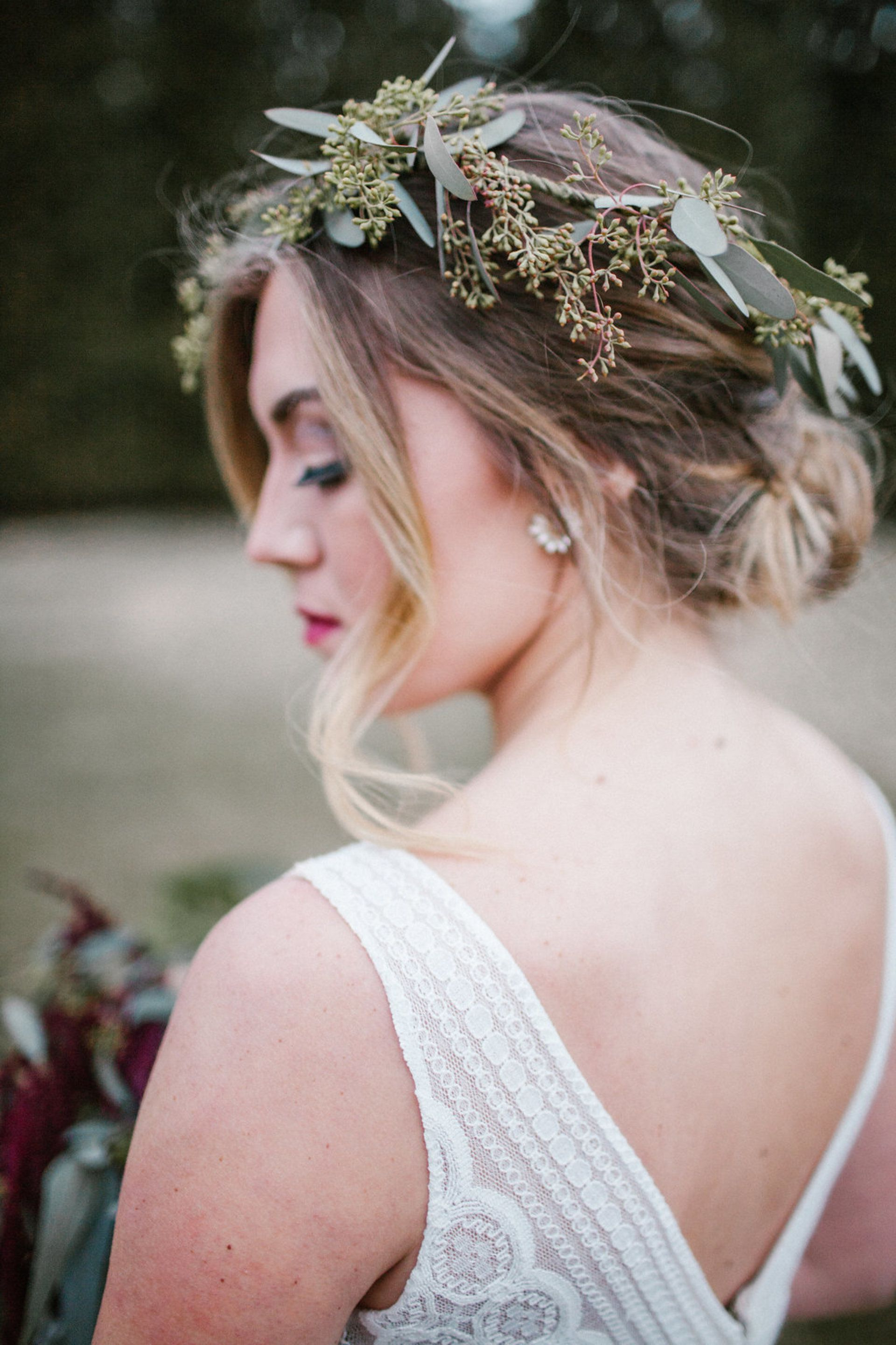 Trendy Curled Bridal Hairstyles With Tendrils With Regard To Romantic Winter Wedding At Stevenson Ridge (View 5 of 20)