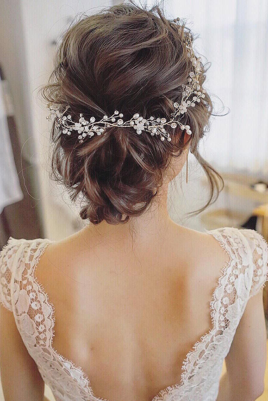 Trendy Pearls Bridal Hairstyles Intended For 25 Chic Updo Wedding Hairstyles For All Brides (View 14 of 20)